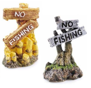 Classic Aquatics No Fishing Signs