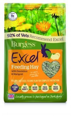 Burgess Excel Feeding Hay - With Dandelion and Marigold 1KG