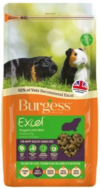 Burgess Excel Guinea Pig - Nuggets with Mint