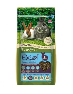 Burgess Excel Rabbit Junior/Dwarf - Nuggets with Mint