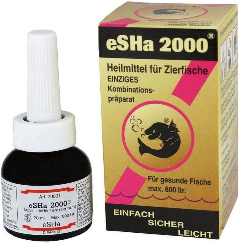 eSHa 2000 Fungus, Finrot and Bacteria Treatment 20ml